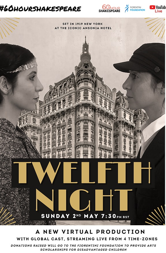 RSC Associate supports four-time zone staging of Twelfth Night in aid of children's performing arts charity